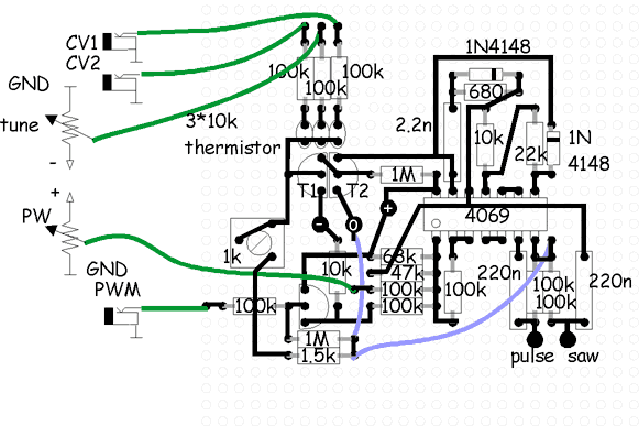 synth schematics vco 4069 rh schmitzbits de VCO Vackar Low Frequency VCO Oscillator Op-Amp Schematic