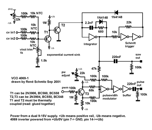 Synth schematics vco 4069