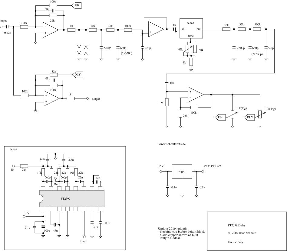 synth schematics --::digital delay line::--  www.schmitzbits.de