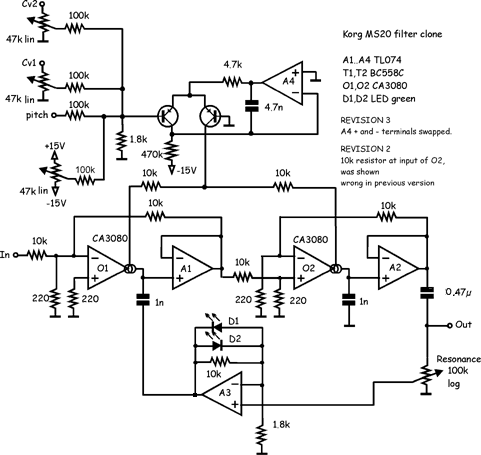 Incredible Synth Schematics Ms 20 Filter Wiring Database Wedabyuccorg