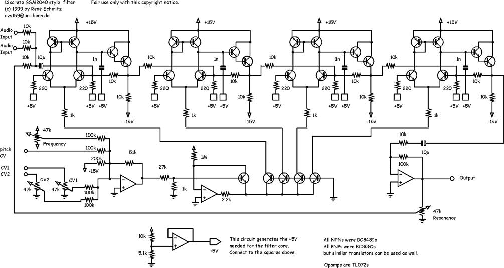 Synth schematics--::-- SSM 2040 Filter