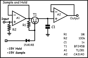 synth schematics s h Sample and Hold Delay Circuit Sample and Hold Circuit Tutorial