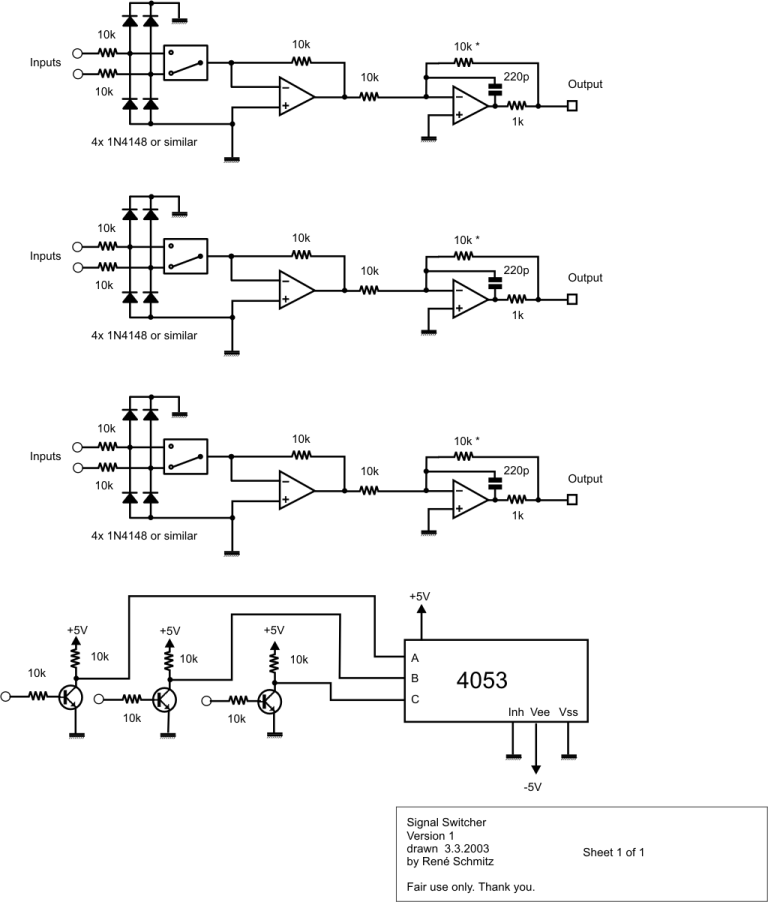 Synth Schematics --::-- Signal Switch