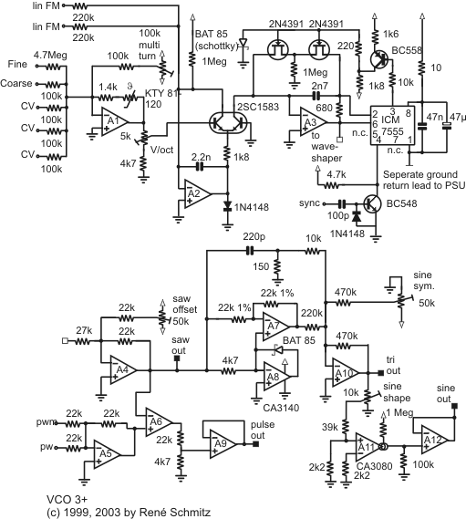 synth schematics vco 3 rh schmitzbits de VCO Schematic Block Diagram Transistor VCO Schematic