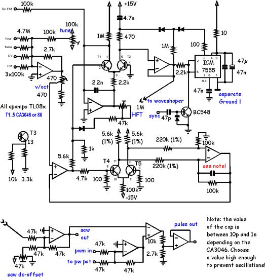 Synth Schematics --::VCO 4::--
