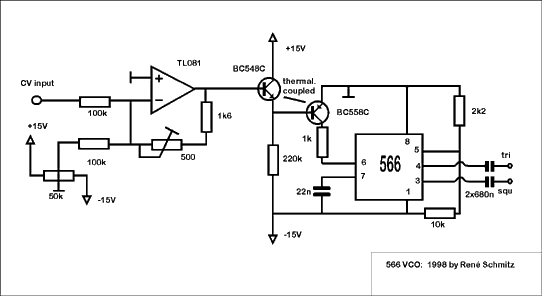 Synth Schematics --::VCO 566::-- on