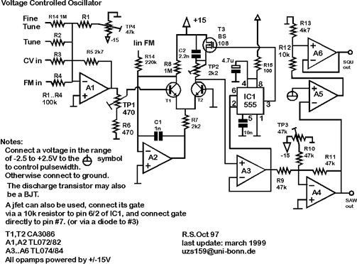 synth schematics vco 1 and 2 rh schmitzbits de Low Frequency VCO Oscillator Op-Amp Schematic VCO Circuit Design