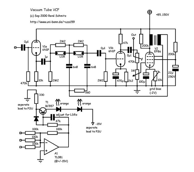 Synth Schematics --::Vacuumtube Filter::-- on