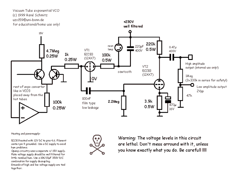 synthesizer wiring diagram synth schematics--::--vacuum tube vco ford 900 wiring diagram